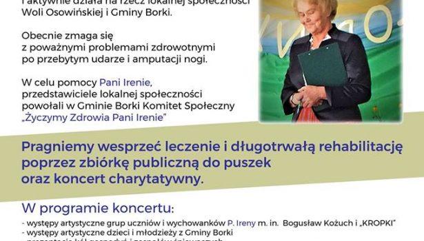 """Koncert Charytatywny """"Życzymy zdrowia Pani Irenie""""- 6 stycznia 2019 r."""